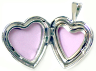 16mm heart locket open