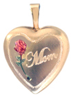 L4003 16mm heart locket mom