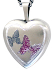 sterling 2 butterflies 16 heart locket