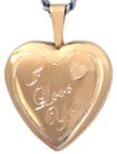 16 heart locket with I Love You