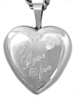 sterling I love you  locket