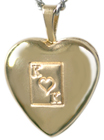 4018 embossed king of hearts locket