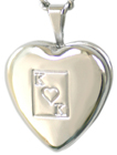 sterling king of hearts 16 heart locket