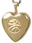 4019 basketball heart locket