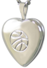 sterling basketball heart locket