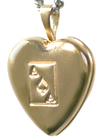 4020 ace of spades heart locket