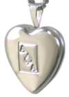 sterling ace of spades heart locket