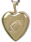 4022 football heart locket