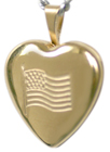 4023 embossed flag locket