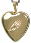 4024 cheerleader heart locket