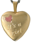 L4029 Its a girl 16 heart locket