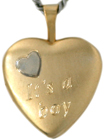 L4030 Its a boy 16mm heart locket