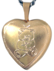 L4031 teddy bear heart locket