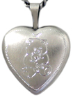 sterling 16 heart teddy bear locket