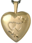 L4034 two hearts 16 heart locket