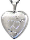 sterling 16mm heart locket with hearts