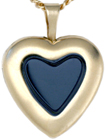 L4036 Raised 16mm heart locket with setting