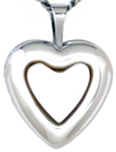 sterling 16mm heart locket with setting