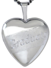 Sterling graduate 16mm heart locket