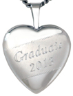 L4043 Graduate heart locket