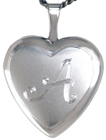 L4050 Initial heart locket