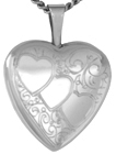 L4061 3 hearts heart locket