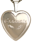L4066 sterling graduate heart locket