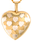L4067 gold multi hearts heart locket