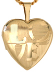 L4070 LOVE heart locket