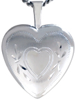L4078 16mm heart locket with heart