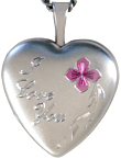 L4081 Love You 16mm heart locket