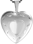L4083 sterling heart locket
