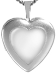 L4084 mirrored heart locket
