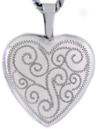 L4085 quilted 16mm heart locket
