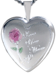 L4088 Love You Mum heart locket