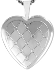 L4090 quilted heart locket