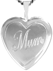 L4095 16mm heart locket with mum