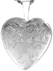L4100 tree of love heart locket