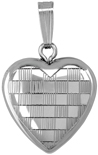 L4111 checkboard pattern 16 heart locket