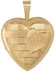 L4112 Mom 16mm heart locket