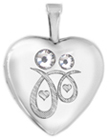 L4114 mother and child heart locket