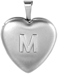 L4117A small heart locket with embossed initial