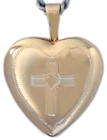 L4008 16mm heart with cross