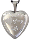 Heart of my life 16mm heart locket