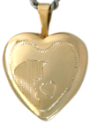 L4014 16mm heart pet locket