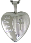 Baptism 16mm heart locket