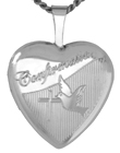 L4040 Confirmation heart locket