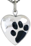 sterling paw pet locket