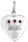 L4049 crown pet locket