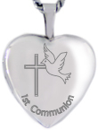 L4089 Communion heart locket